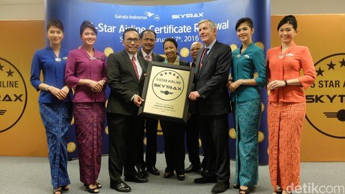 Garuda Indonesia among only 7 in World's Five Star Airlines category